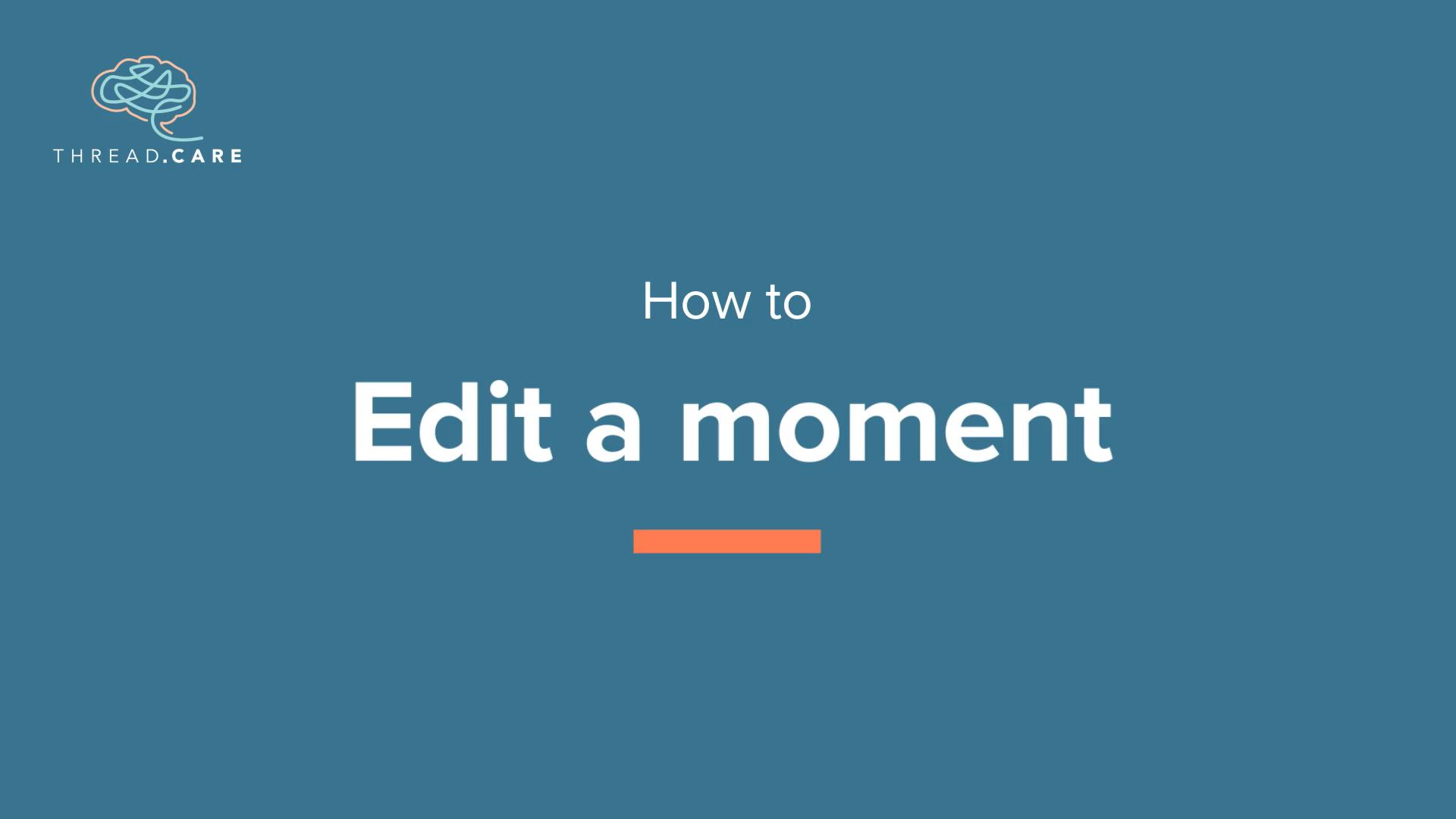 Edit a Moment